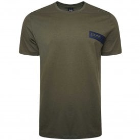 Relaxed Crew Neck Underwear T-Shirt, Medium Green