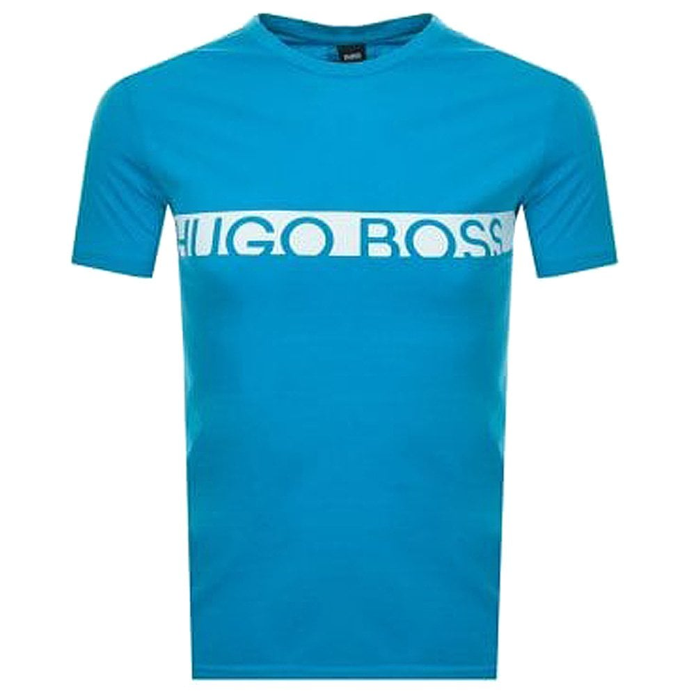7a74d8e9664 Hugo Boss Slim Fit Logo Cotton Crew T-Shirt with UPF50+ Protection ...