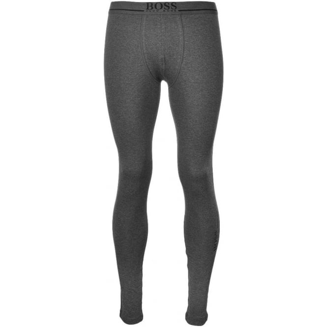 BOSS Stretch Cotton Long John 24 Logo, Charcoal Grey