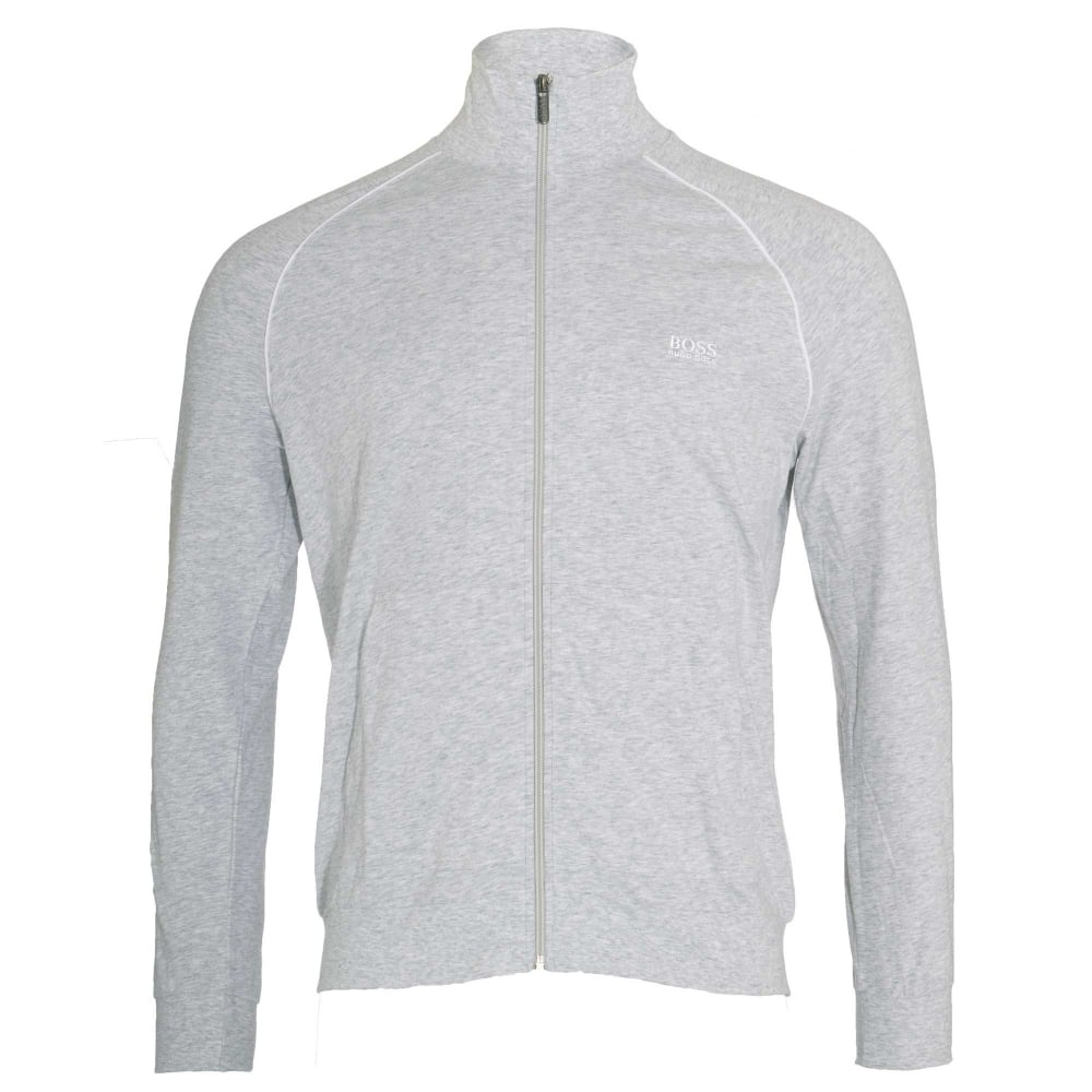 7e72c9667 BOSS Stretch Cotton Zip-through Loungewear Jacket, Grey, X-Large