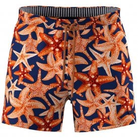 Threadfin Swim Shorts, Starfish Print