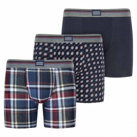 Cotton Stretch 3-Pack Boxer Trunk, Biking Red