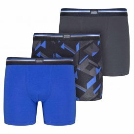 Cotton Stretch 3-Pack Boxer Trunk, Blue Iolite
