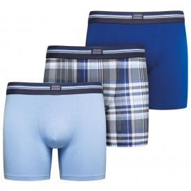Cotton Stretch 3-Pack Boxer Trunk, Just Blue