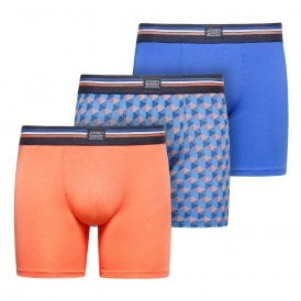 Cotton Stretch 3-Pack Boxer Trunk, Nebulas Blue