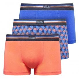 Cotton Stretch 3-Pack Short Trunk, Nebulas Blue