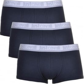 Cotton Stretch 3-Pack Boxer Trunks, Navy