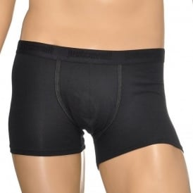 Cotton Stretch Boxer Brief, Black