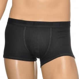 Cotton Stretch Boxer Trunk, Black