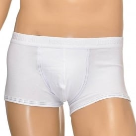 Cotton Stretch Boxer Trunk, White