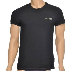Cotton Stretch Crew Neck T-shirt, Black