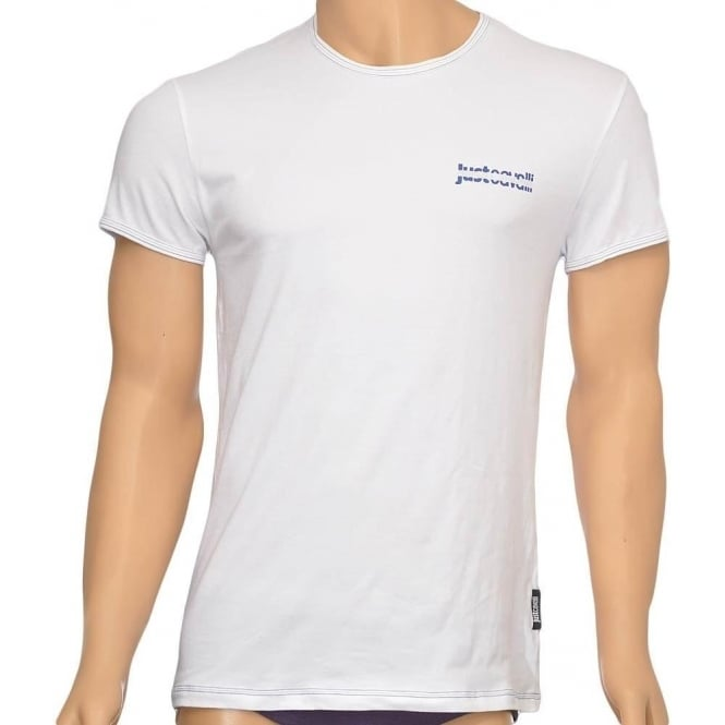 Just Cavalli Cotton Stretch Crew Neck T-shirt, White