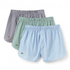 Authentics 3-Pack Woven Boxer, Green / Blue / Navy