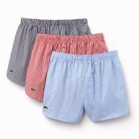 Authentics 3-Pack Woven Boxer, Red / Blue / Navy
