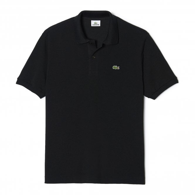 Lacoste Cotton Polo Shirt, Black