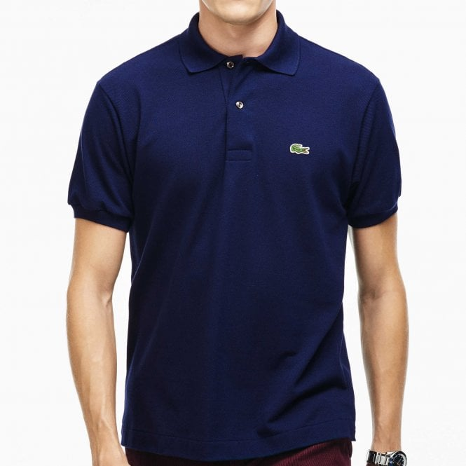 Lacoste Cotton Polo Shirt, Marine Blue