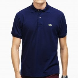 Cotton Polo Shirt, Marine Blue