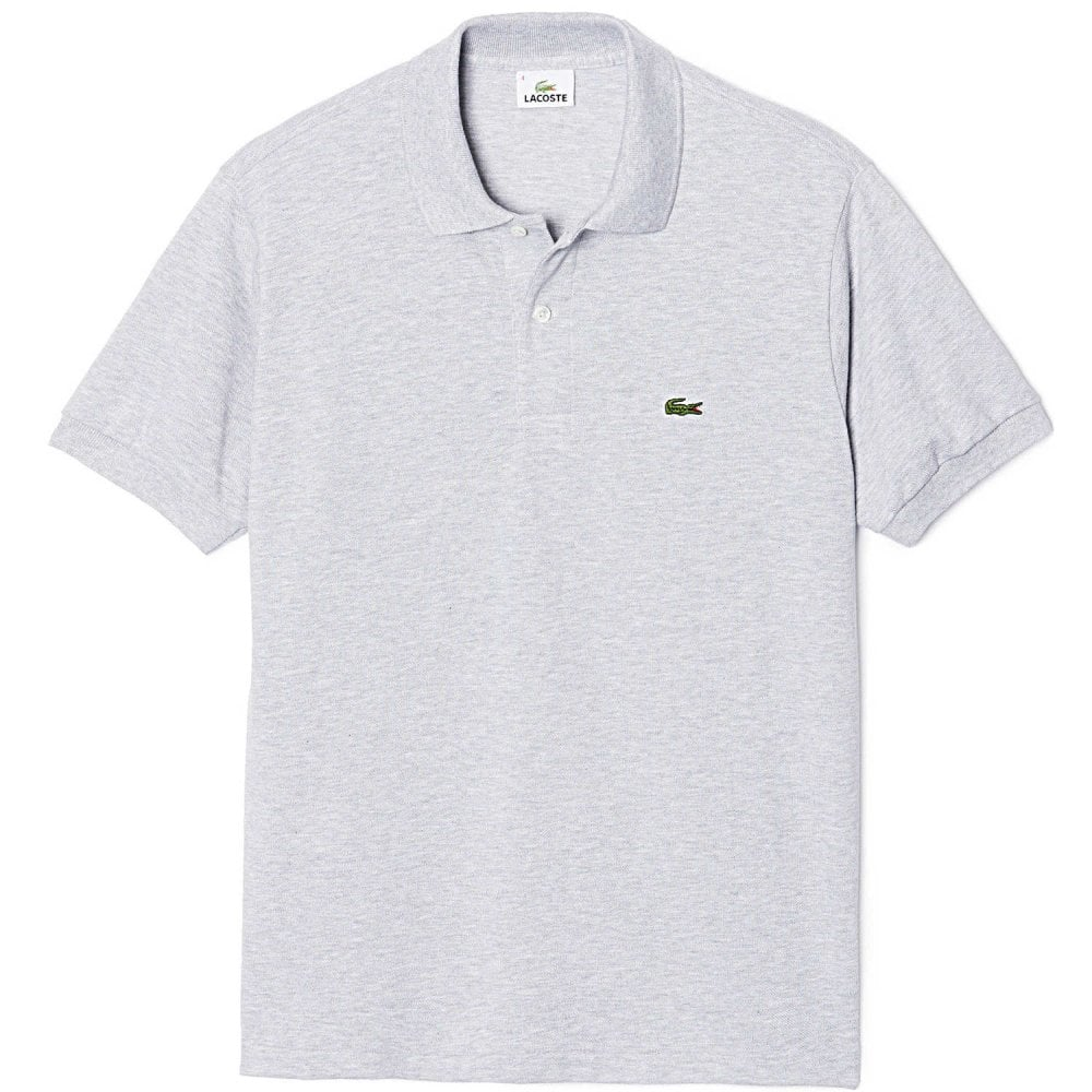 54562f288d6 Lacoste Cotton Polo Shirt Silver Chine