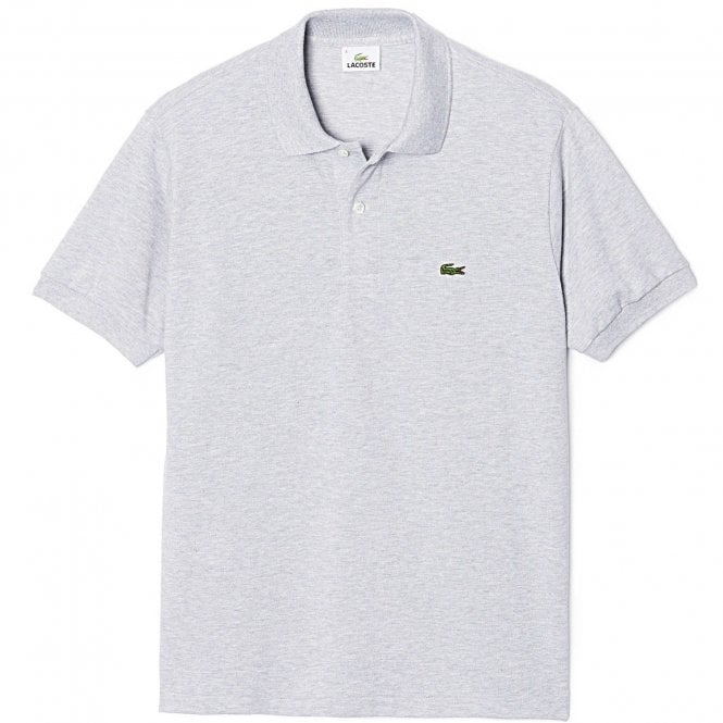 Lacoste Cotton Polo Shirt, Silver Chine