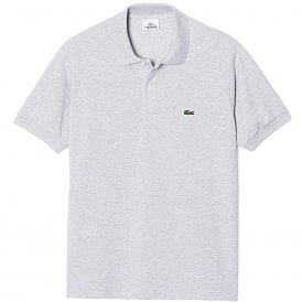 Cotton Polo Shirt, Silver Chine