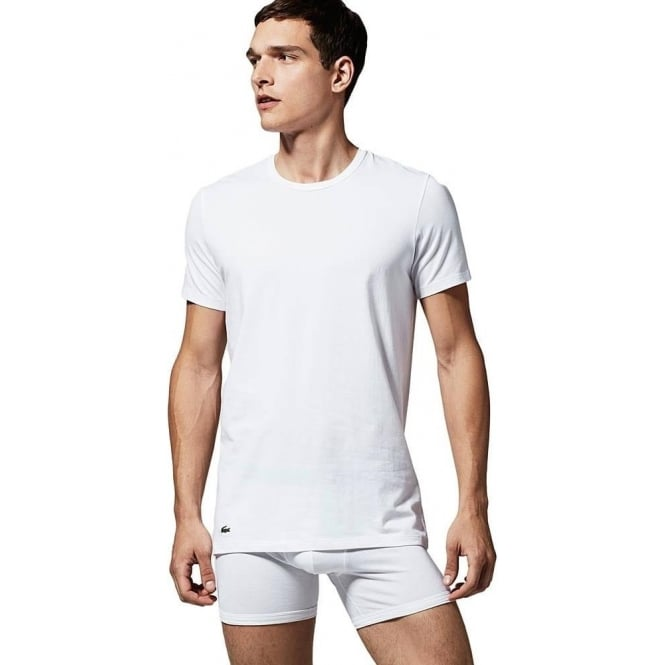 Lacoste Cotton Stretch 2-Pack Crew Neck T-Shirt White