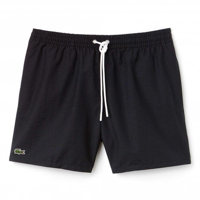 Lacoste Cotton Taffeta Swim Shorts, Black