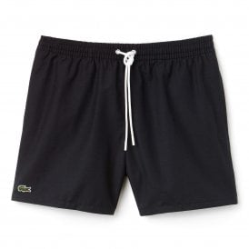 Cotton Taffeta Swim Shorts, Black