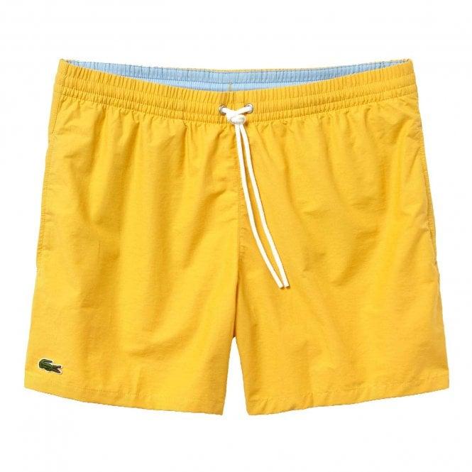 Lacoste Cotton Taffeta Swim Shorts, Yellow