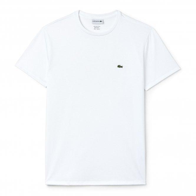 Lacoste Crew Neck Pima Cotton Jersey T-shirt, White