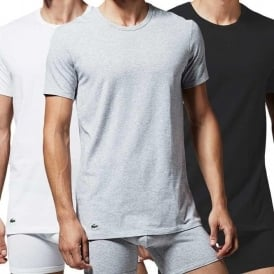 Essentials Supima Cotton 3-Pack Crew Neck T-Shirt, Black/Grey/White