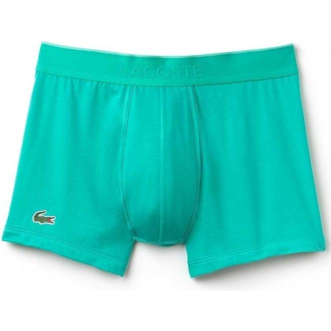 Lacoste Micro Pique Cotton Modal Stretch Boxer Trunk, Seafoam Green