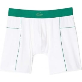 Motion Micro Mesh Stretch Boxer Brief, White/Green