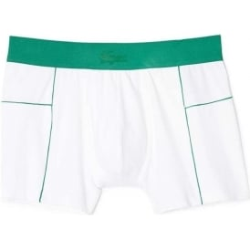 Motion Micro Mesh Stretch Boxer Trunk, White/Green