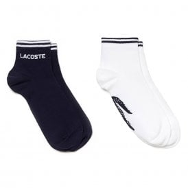 Sport 2 Pack Sneaker Socks, Navy Blue / White