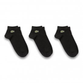 Sport 3 Pack Low Cut Cotton Socks, Black