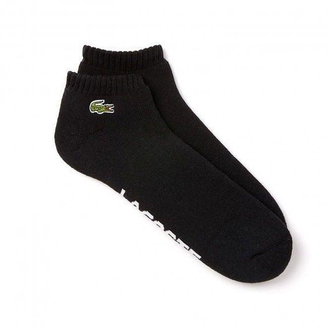 Lacoste Sport Cushioned Sneaker Socks, Black