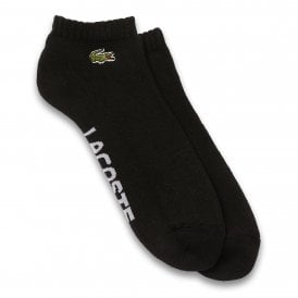 Sport Low Cut Cushioned Cotton Socks, Black