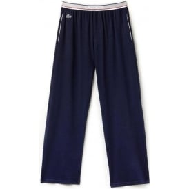 Stretch Cotton Lounge Pant Contrast Waistline, Dark Blue
