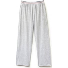 Stretch Cotton Lounge Pant Contrast Waistline, Grey Melange