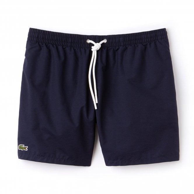 Lacoste Cotton Taffeta Swim Shorts, Blue