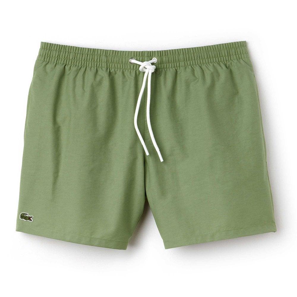 c490e9477d Lacoste Swimwear - Cotton Taffeta Swim Shorts Light Green