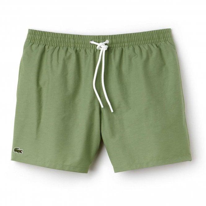 Lacoste Cotton Taffeta Swim Shorts, Light Green