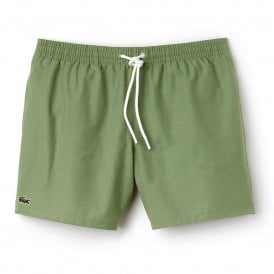 Cotton Taffeta Swim Shorts, Light Green