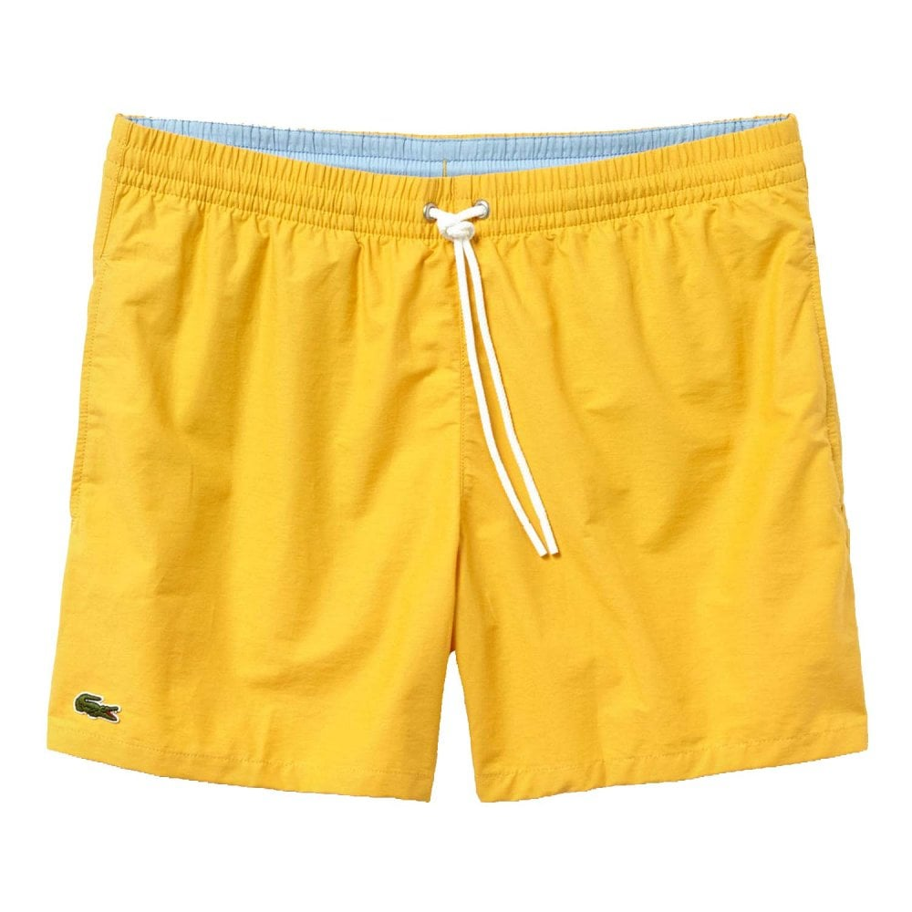 27a43fea48ba0 Lacoste Swimwear - Cotton Taffeta Swim Shorts Yellow
