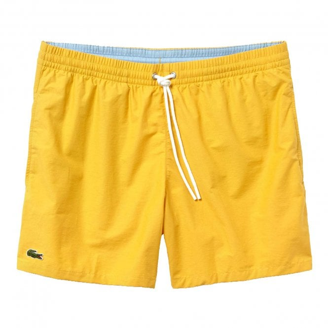 Lacoste Cotton Taffeta Swim Shorts, Yellow