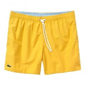 Cotton Taffeta Swim Shorts, Yellow