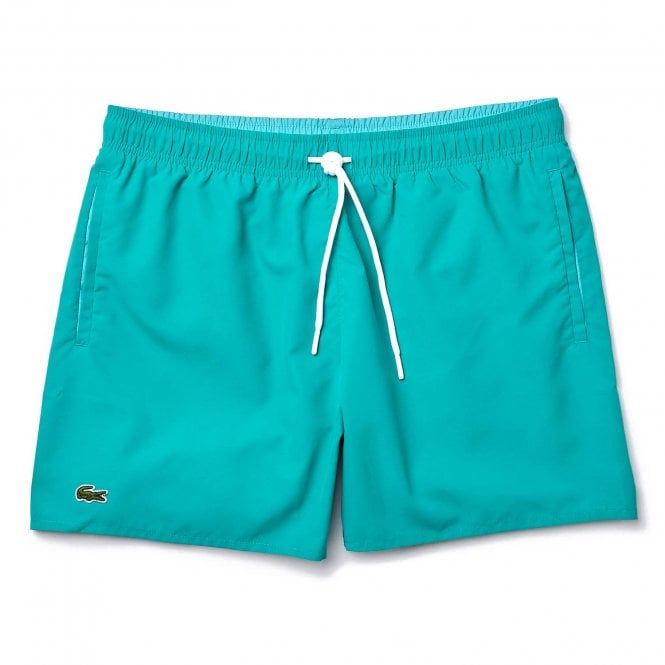 Lacoste Taffeta Swim Shorts, Green / Turquoise