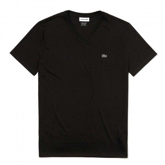Lacoste V-Neck Pima Cotton Jersey T-shirt, Black