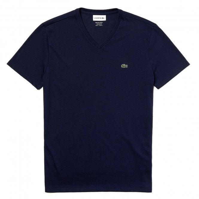 Lacoste V-Neck Pima Cotton Jersey T-shirt, Navy
