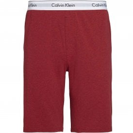 Modern Cotton Pyjama Shorts, Smoky Rouge Heather